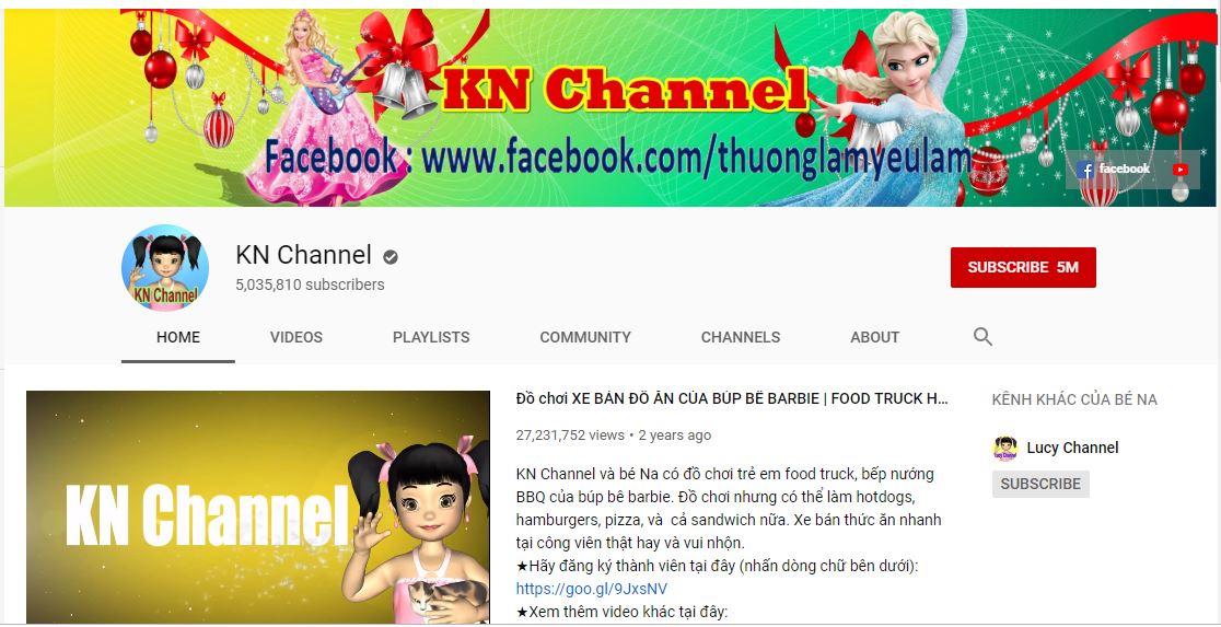 KN Channel là kênh Youtube rất hay cho trẻ em