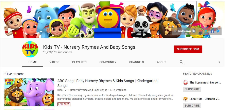Kids TV là một kênh Youtube bổ ích cho trẻ em