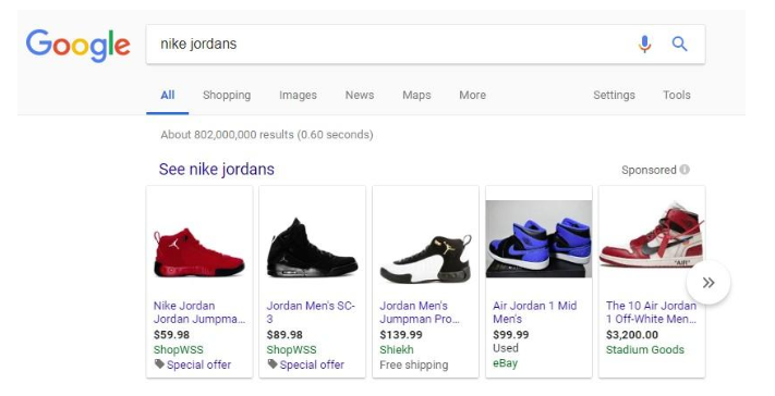 google shopping nike