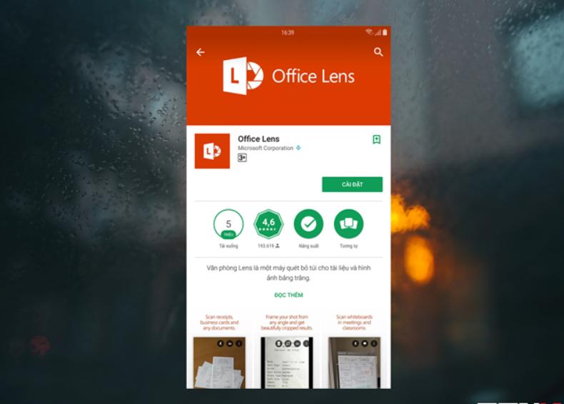 App scan ảnh và văn bản