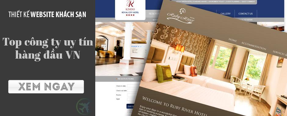 Top công ty thiết kế website khách sạn - resort.