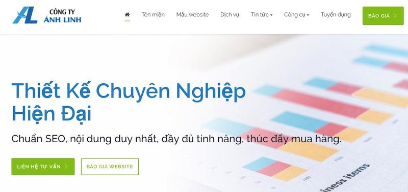 Ánh Linh - chuyên thiết kế web Biên Hòa - Đồng Nai