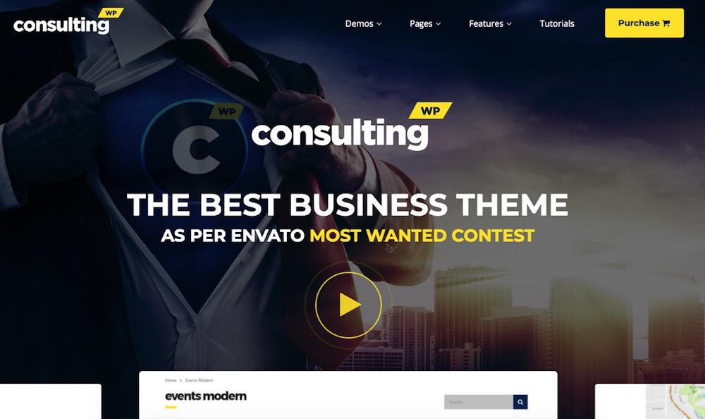 Consulting - mẫu website giới thiệu doanh nghiệp hoàn hảo