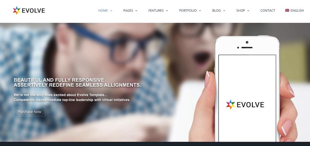 Mẫu website doanh nghiệp - Evolve