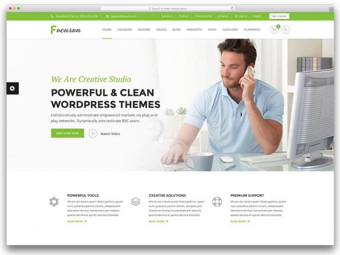 Forcusion - web giới thiệu công ty, doanh nghiệp đẹp