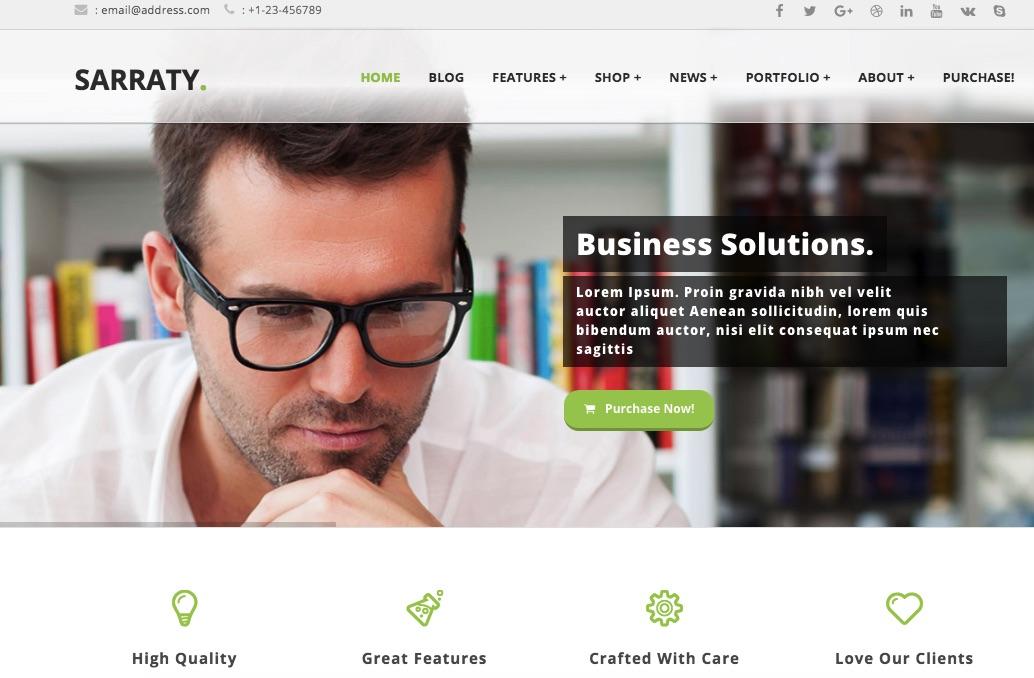 Saraty - mẫu website giới thiệu đẹp