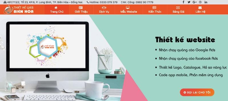 Công ty thiết kế website Biên Hòa