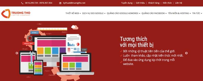 Công ty Trường Thọ - thiết kế website đồng nai